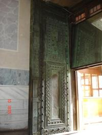 The huge bronze doors at Hagia Sofia