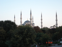 All six minarets of Sultan Ahmet Camii as seen from Yenicerlier Caddesi