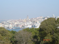 View of the Beyogulu district of Istanbul from the Iftariye Pavilion; in the background you can see the Galata Tower