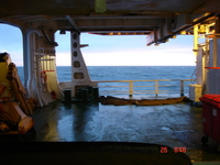 Aboard a survey vessel in the mid-North Sea